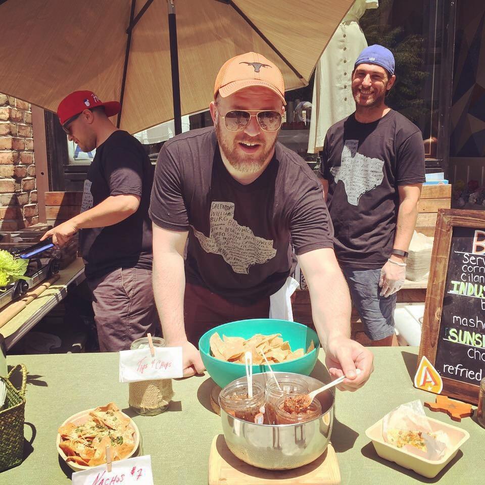 jalapa jar serving tacos at smorgasburg