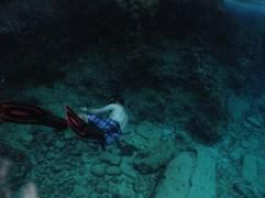 Robbie's underwater acrobatics