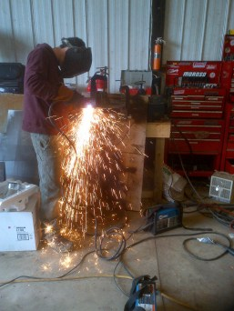 Using the plasma torch on the mystery steel.