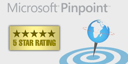 Achievements - 5 star ratings on Microsoft Pinpoint