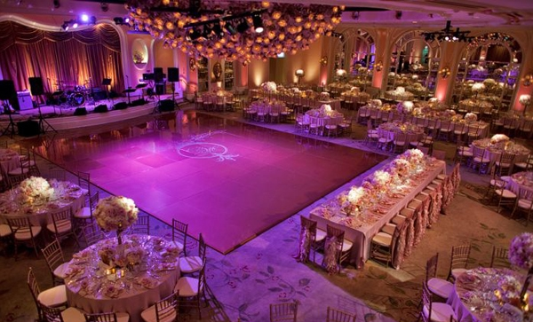 Hollywood Style Wedding Reception