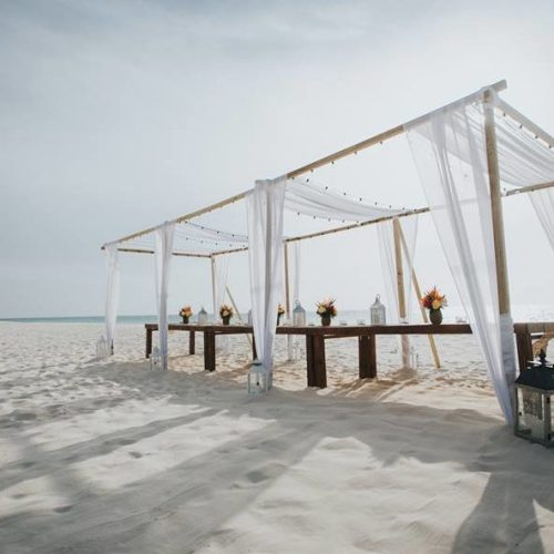 WedAruba Reception Dinner Beach Daytime
