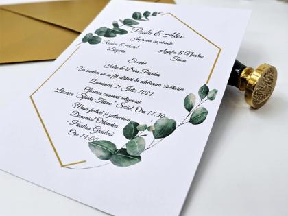 invitatie de nunta smarald fundita