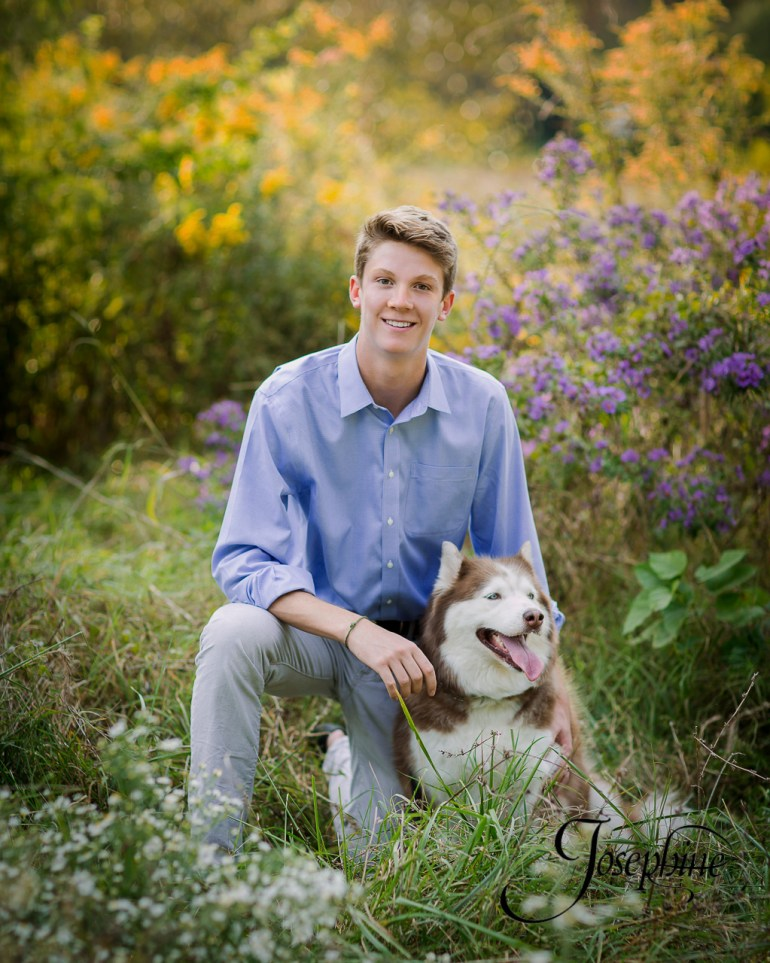 saint-louis-senior-portrait-photographer-john-burroughs-forest-park-with-dog-2