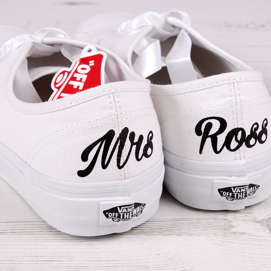 Customised Mrs Bride Vans Shoes  Wedding Converse