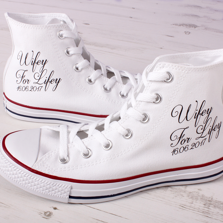 Custom Converse Wedding Shoes