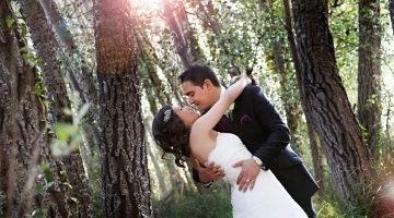 Beau mariage dans la forêt