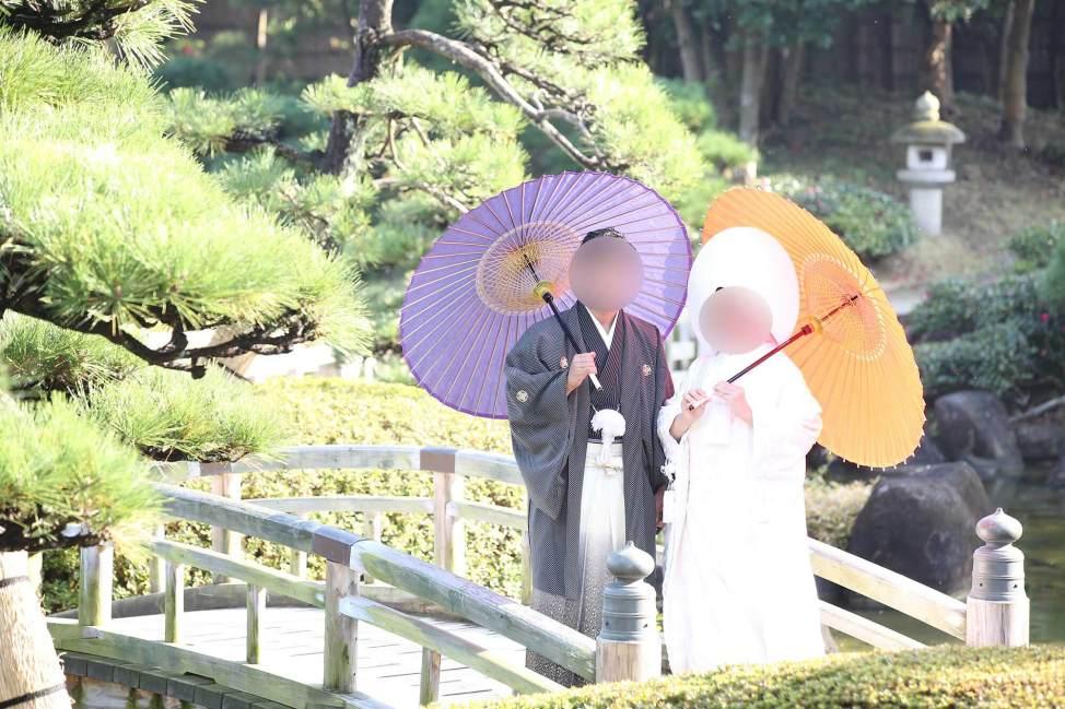 和装の傘はレンタル