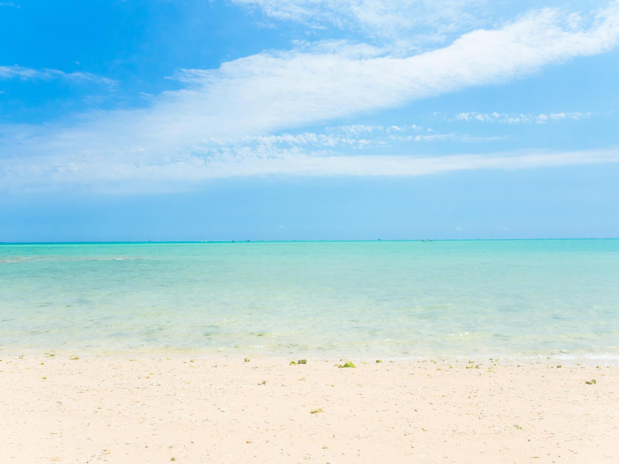 沖縄の海は透明度が高い