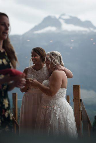 Brides candid portrait