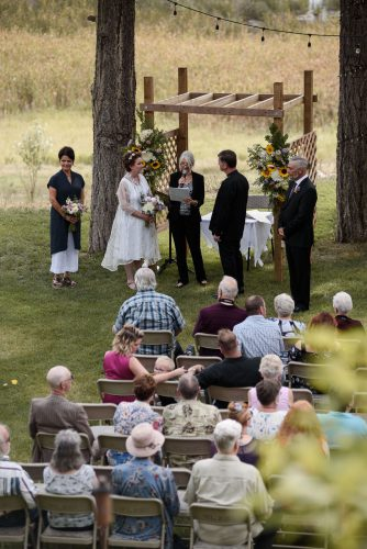 Backyard wedding ceremony, BC