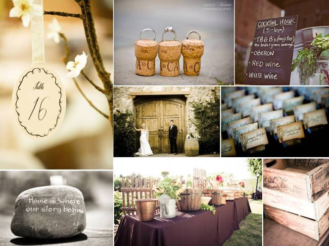 Amazing Wooden Slabs For Wedding Centerpieces 3