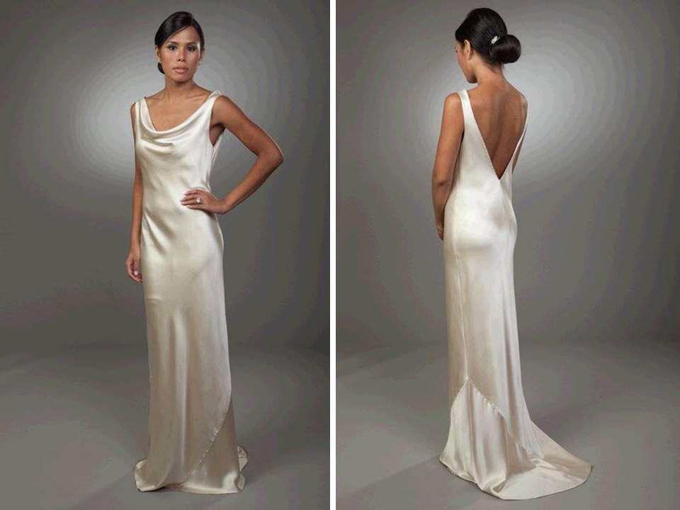 Silk Satin Dresses On Pinterest