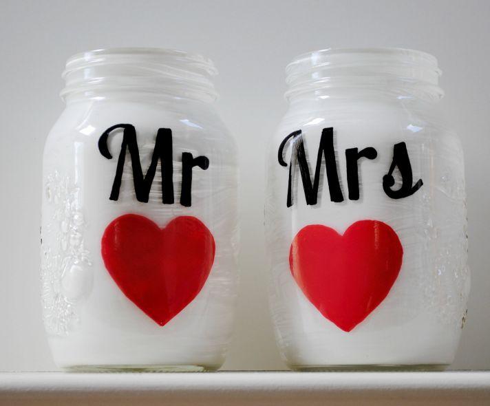 Mason Jar Wedding Love