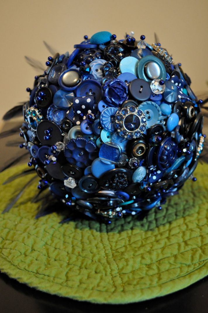 I Do or I Dont to a Button Bridal Bouquet