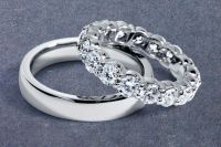 Not expensive Zsolt wedding rings: His and hers platinum ...