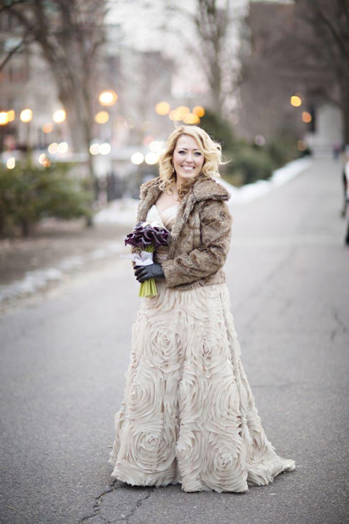 Winter Wedding Coat For Bride