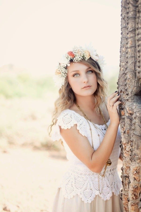 Sweet Flower Crown with Babys Breath
