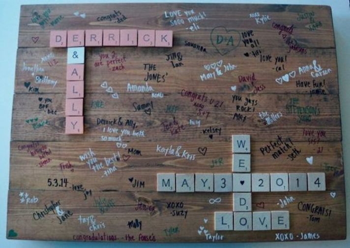Scrabble Guest Book Idea