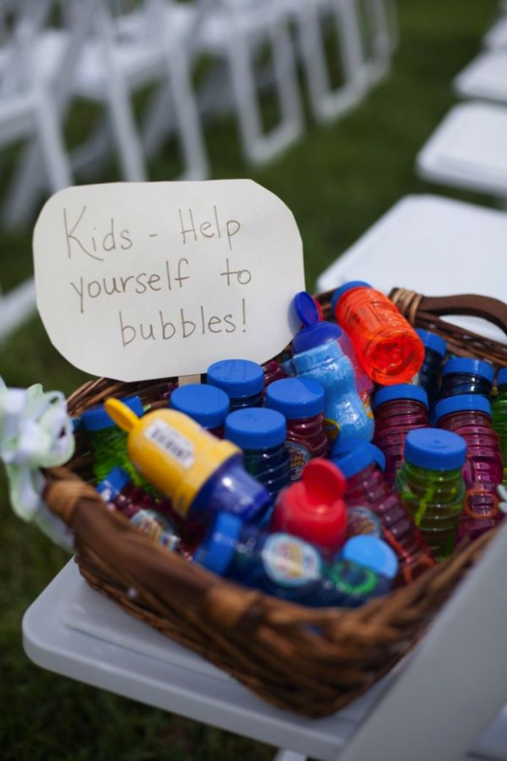 Bubbles for kids at wedding