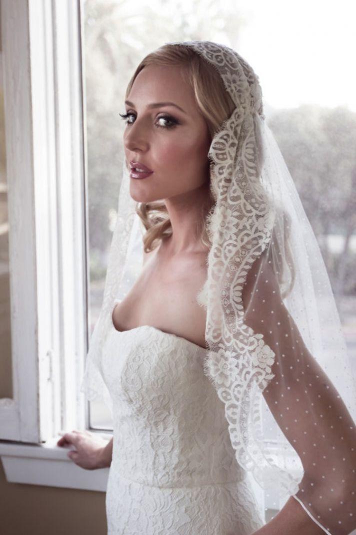 Lace Juliet Cap Bridal Veil
