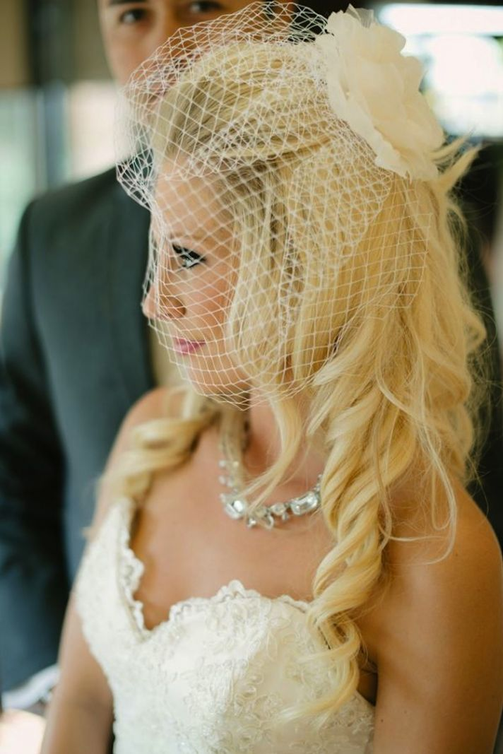 Glam with Flower Veil