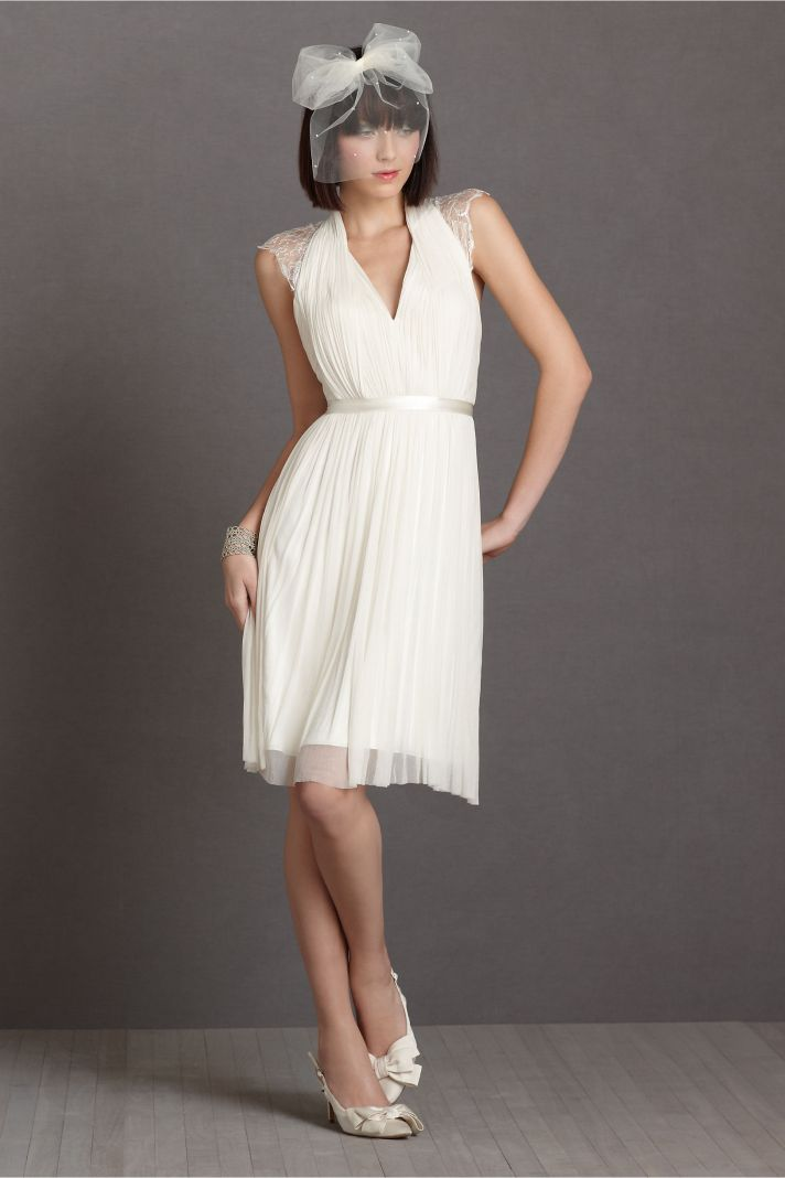 lace LWD from BHLDN for vintage brides 1
