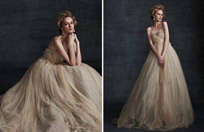 Stunning Wedding Dresses In Beige And Blush
