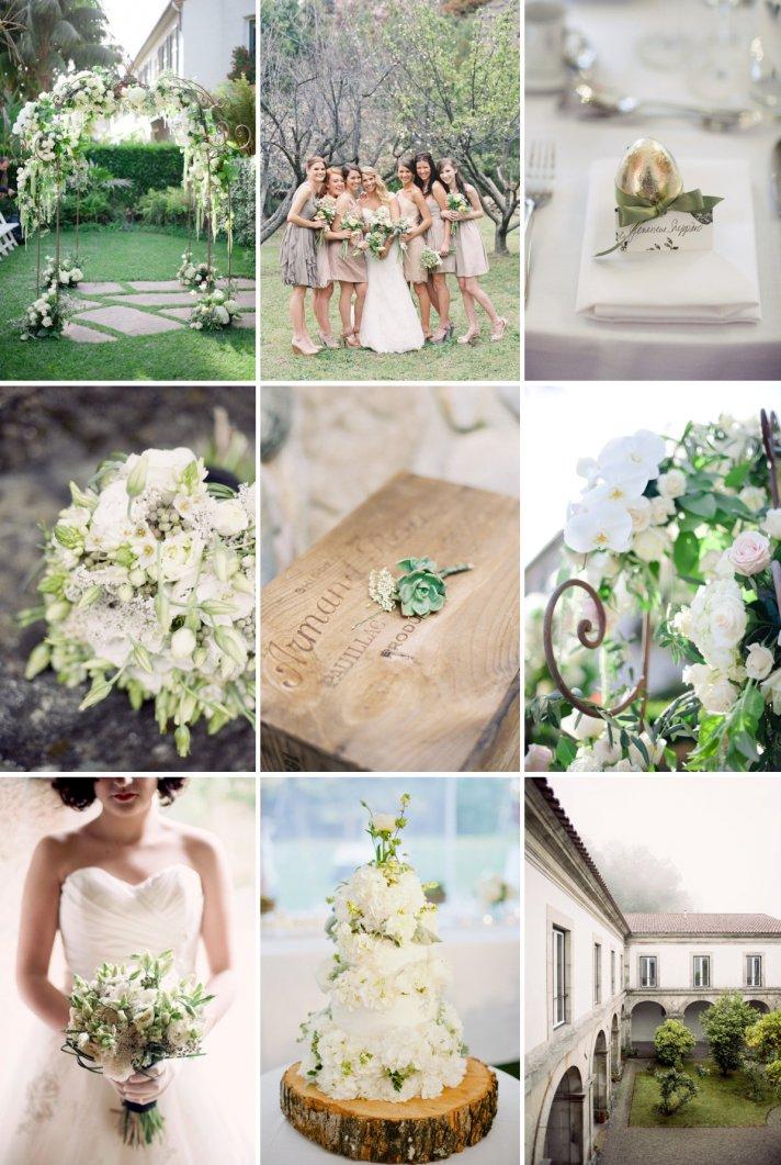 Elegant Wedding Colors Soft Greens  Creams
