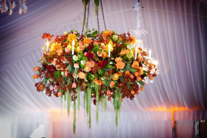 Romantic Wedding Ideas We Love Floral Chandeliers for the