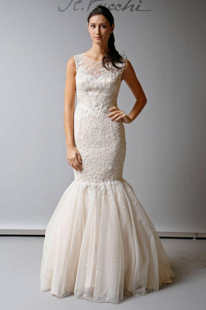 Favorite Illusion Neckline Wedding Gowns of 2013