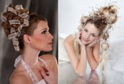 time traveling bride bouffant