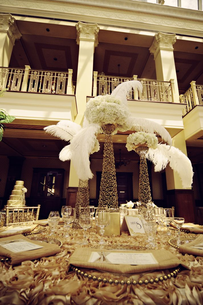 Art Deco Wedding Gilded to the Hilt