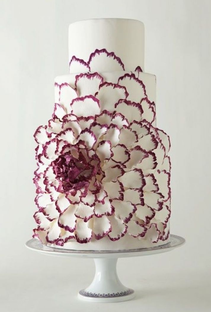 Contemporary Cake with a Large Graphic Flower