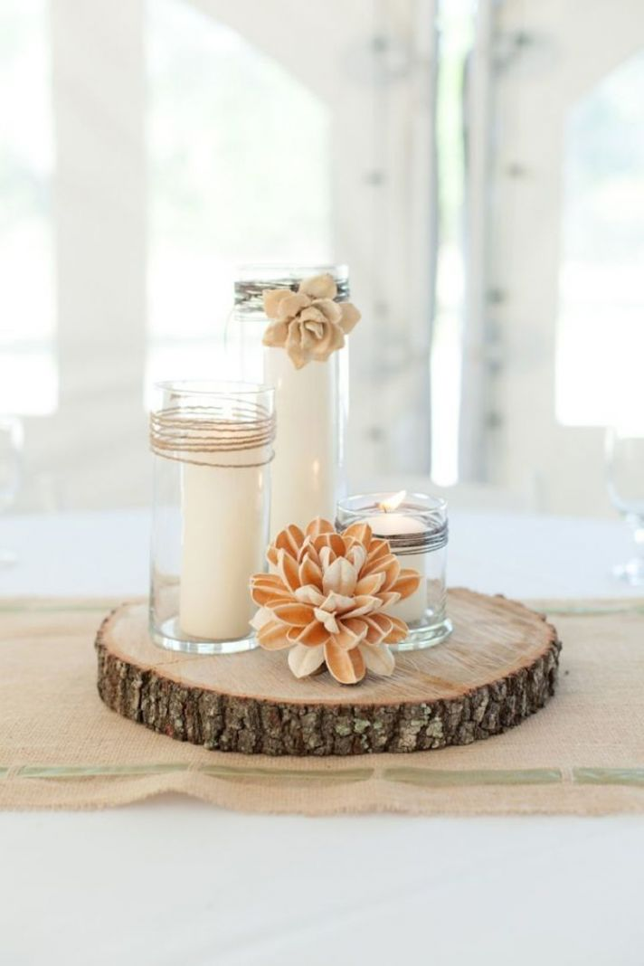 Simple and Beautiful Candle Centerpieces
