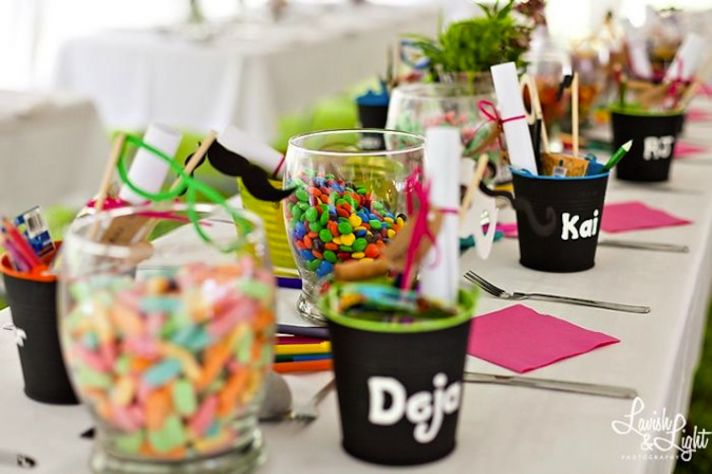 Adorable Kids Table at wedding