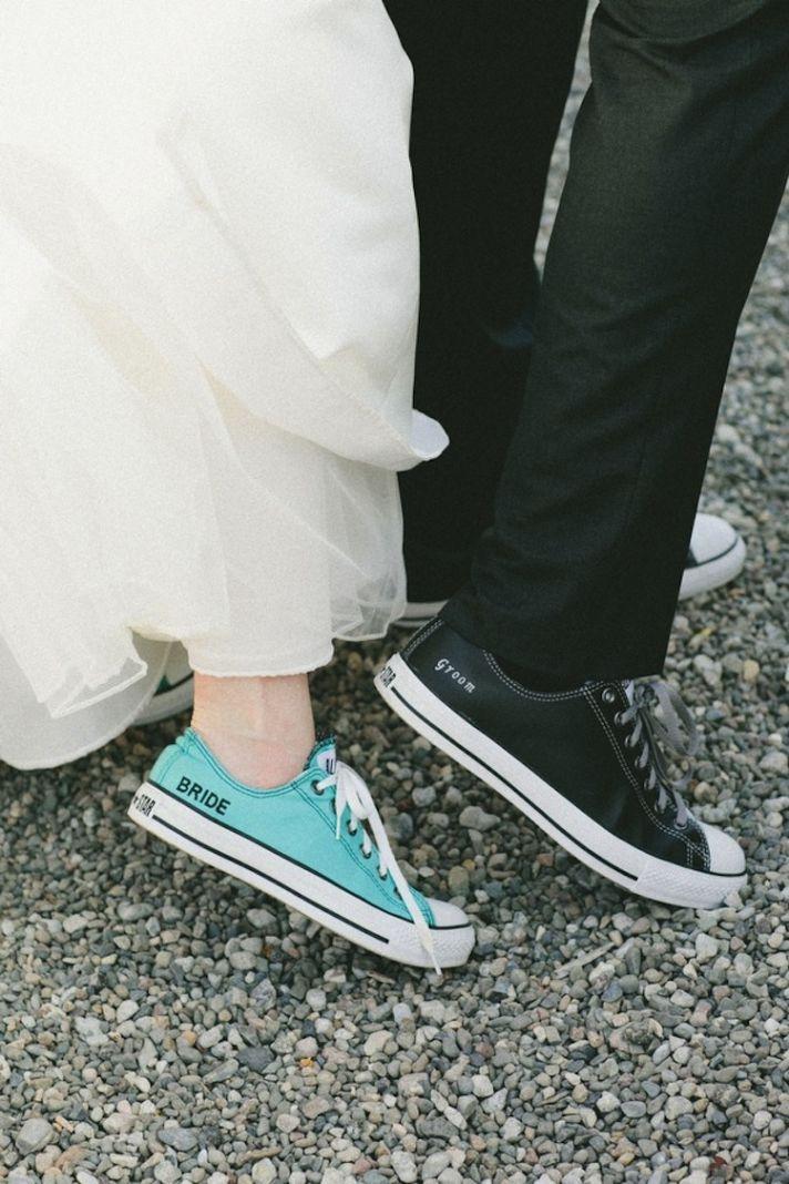 Blue Wedding Sneakers