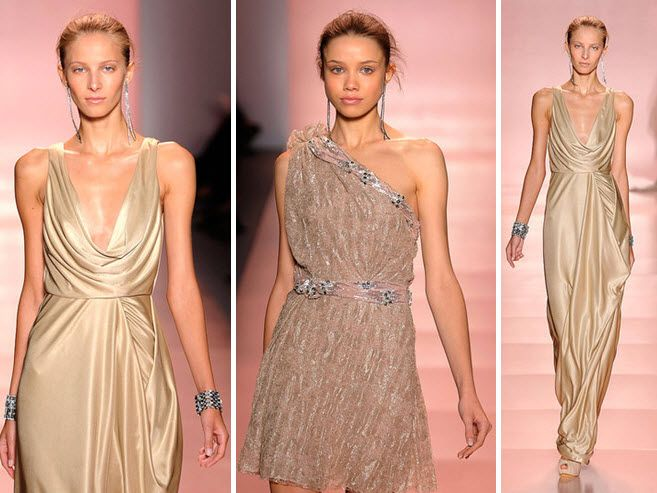 Plunging Necklines, Slinky Silhouettes, High-Fashion