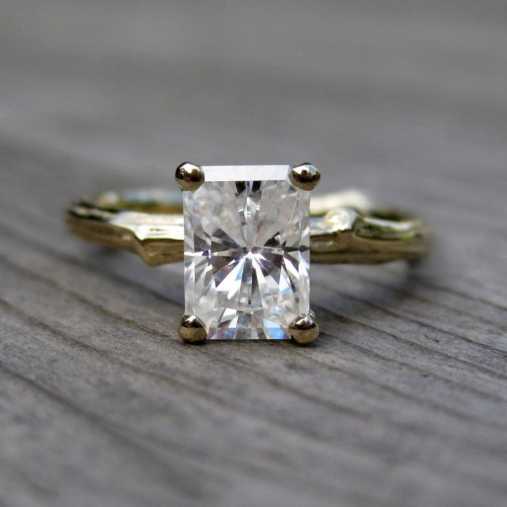 27 NonDiamond Engagement Rings that Sparkle Just as