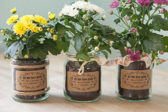Live Flowers as Wedding Favors