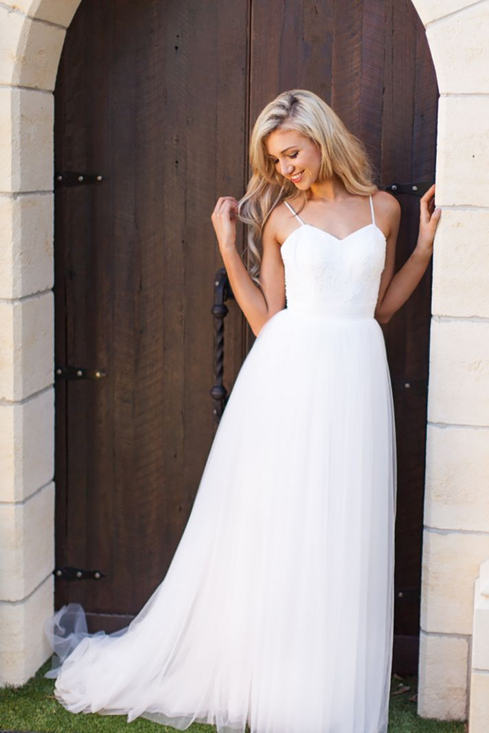 Jayne Wedding Dress with Spaghetti Straps