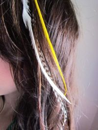 Wedding Hair Trend We Love: Feather Hair Extensions! | OneWed
