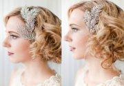 ultra-feminine wedding hair accessories