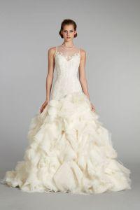 Favorite Illusion Neckline Wedding Gowns of 2013 | OneWed