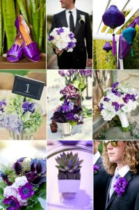 Purple and Green Wedding Color Inspiration