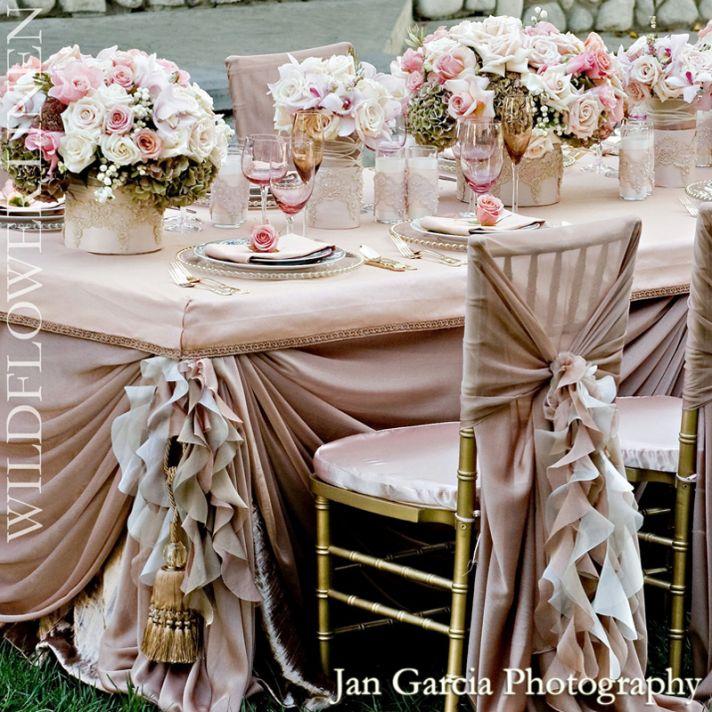 Tablecloth Wedding Decor Inspiration