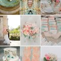 Wedding color inspiration succulent green soft pink and peach