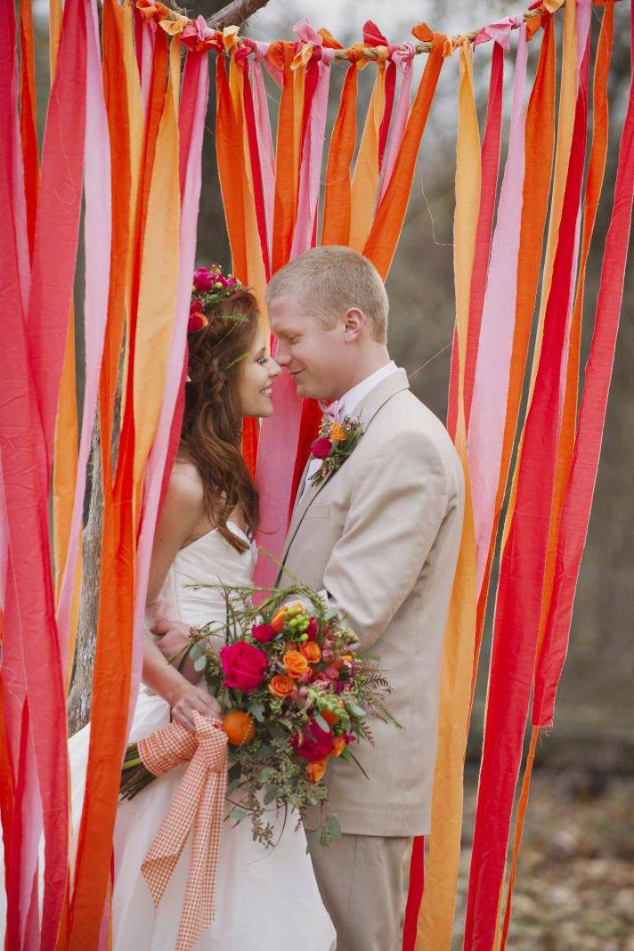 Rustic Love With Bright Juicy Pops Of Color