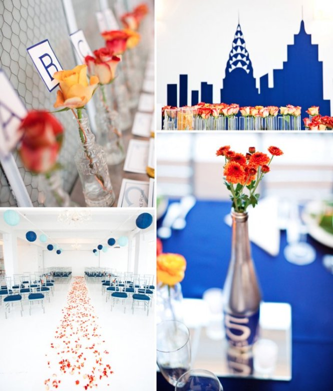 Bridal Shower Tablescape Cobalt Blue And Yellow Wedding