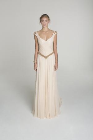 Alana Aoun Wedding Dress Style Blush And Gold Wedding